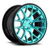 5 LUG CIRCUIT HI LUSTER POLISH AND CANDY TEAL TINT WITH GLOSS CLEAR