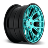 5 LUG CIRCUIT BRUSHED / CANDY TEAL AND GLOSS CLEAR