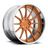5 LUG AGILE BRUSHED MATTE ORANGE TINT | CHROME