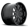 5 LUG ELEMENT MATTE BLACK W/ GLOSS BLACK LIP