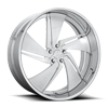 5 LUG PHANTOM - U504 BRUSHED W/ GLOSS CLEAR