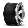 5 LUG PNT HI LUSTER POLISHED W/ MATTE CLEAR