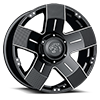 6 LUG 901 FLAT BLACK MACHINED
