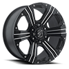 6 LUG 902 FLAT BLACK MACHINED