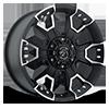 6 LUG 904 FLAT BLACK MACHINED