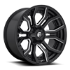 6 LUG RAGE - D711 GLOSS BLACK & MILLED