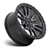 6 LUG REBEL - D680 ANTHRACITE CENTER W/ BLACK LIP