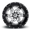 5 LUG ROCKER - D272 CHROME WITH GLOSS BLACK LIP