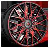 5 LUG R24 RED/BLACK MACHINED
