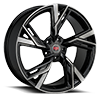 5 LUG R25 BLACK MACHINED