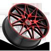 5 LUG R11 BLACK/RED