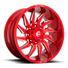 8 LUG SABER - D745 CANDY RED & MILLED