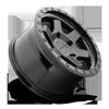 5 LUG SIX-OR MATTE BLACK CENTER W GLOSS BLACK RING