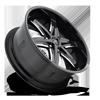 6 LUG SLIDER-F162 GLOSS BLACK & MILLED