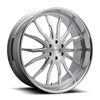 6 LUG SPIKEY - X126 26X10 BRUSHED W/ POLISHED LIP
