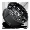 5 LUG STORM X114 GLOSS BLACK & MILLED