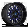 8 LUG STROKE - D645 GLOSS BLACK W/ CANDY BLUE