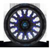 5 LUG STROKE - D645 GLOSS BLACK W/ CANDY BLUE