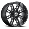 6 LUG SC-18 BLACK MILLED