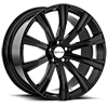 5 LUG SC101 GLOSS BLACK W/ INNER RIM MACHINED
