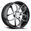 5 LUG SC103 GLOSS BLACK WITH SILVER FACE