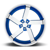 5 LUG TORQUE 5 - U463 NISSAN DAYTONA BLUE METALLIC W/ CHROME LIP