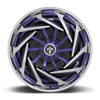 5 LUG TRANCE - S826 BRUSHED W/ CANDY BLUE