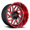 5 LUG TRITON - D691 BRUSHED CANDY RED/GLOSS BLACK/MILLED