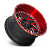 6 LUG TRITON - D691 BRUSHED CANDY RED/GLOSS BLACK/MILLED