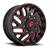 8 LUG TRITON DUALLY FRONT - D656 GLOSS BLACK W/ CANDY RED