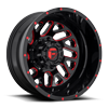 8 LUG TRITON DUALLY REAR - D656 GLOSS BLACK W/ CANDY RED