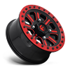 4 LUG HARDLINE - D911 BEADLOCK (LIGHTWEIGHT RING) GLOSS BLACK W/ CANDY RED