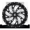 4 LUG KOMPRESSOR - D641 - UTV GLOSS BLACK & MILLED