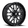 4 LUG STROKE - D611 - UTV GLOSS BLACK & MILLED