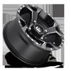 4 LUG ASSAULT - D546 - UTV BLACK & MILLED