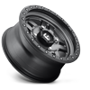 4 LUG ANZA - D558 - UTV MATTE ANTHRACITE W/ BLACK RING