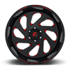 8 LUG VORTEX - D638 GLOSS BLACK W/ CANDY RED