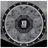 8 LUG XD127 BULLY MATTE GRAY W/ BLACK RING