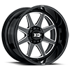 6 LUG XD844 GLOSS BLACK MILLED