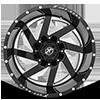 6 LUG XF-205 BLACK MILLED COMPLETE WINDOW - 22X12