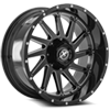 5 LUG XF-216 GLOSS BLACK MILLED - 20X10