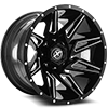 5 LUG XF-218 GLOSS BLACK MILLED - 22X12