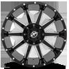 5 LUG XF-219 GLOSS BLACK MILLED - 20X10