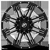 5 LUG XF-220 GLOSS BLACK & MILLED