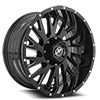 5 LUG XF-221 GLOSS BLACK MILLED - 20X10