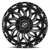 5 LUG XF-228 GLOSS BLACK MILLED