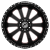 6 LUG XFX-302 BLACK RED MACHINED