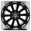 5 LUG XF-302 GLOSS BLACK MILLED