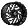 6 LUG XFX-304 BLACK MILLED