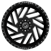 6 LUG XFX-304 BLACK RED MACHINED
